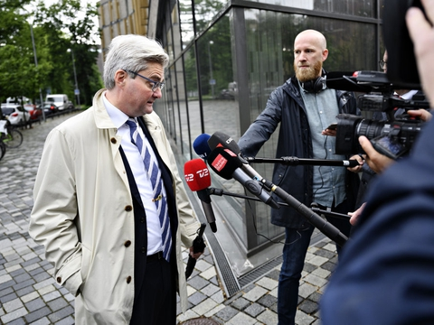 Forhenværende minister Søren Pind ankommer for at vidne ved Instrukskommissionen på Frederiksberg.