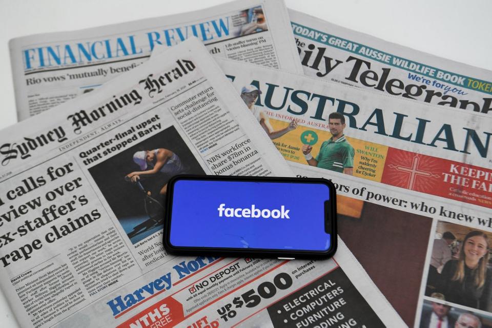Australiere har i en uge ikke kunnet læse og dele nyheder på Facebook, efter at selskabet har blokeret for adgangen på grund af en pengestrid med den australske regering. (Arkivfoto)