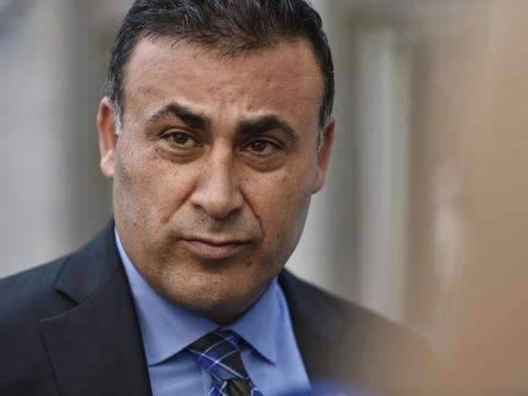 Naser Khader har i retten fastholdt sin betegnelse af Sherin Khankan som islamist. Khader sagde tirsdag efter afgørelsen, at han ikke fortryder noget af det, han har sagt om Sherin Khankan. (Arkivfoto).
