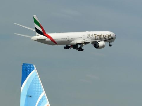 Regeringen forlænger nu flyveforbud fra Dubai. (Arkivfoto)
