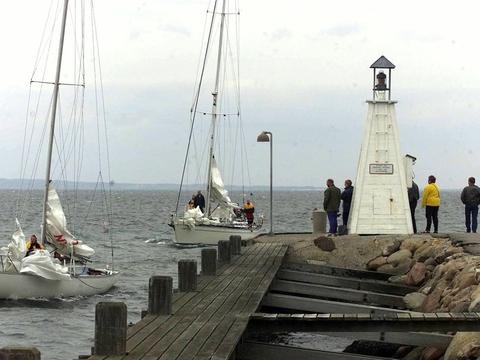 Bogense Havn er blandt de havne i Danmark, der tidligere har fået lov til at smide havneslam i havet. (Arkivfoto)
