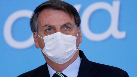 Den brasilianske præsident, Jair Bolsonaro, har været udsat for hård kritik under coronavirusudbruddet.