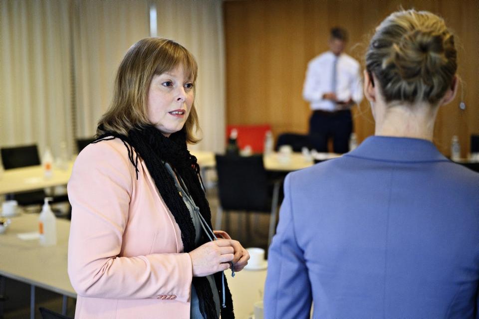 Kulturminister Joy Mogensen (S) er klar til at ændre på sammensætningen af Radio- og tv-nævnet, som har modtaget heftig kritik efter sagen om DAB-udbuddet sidste år. (Arkivfoto)