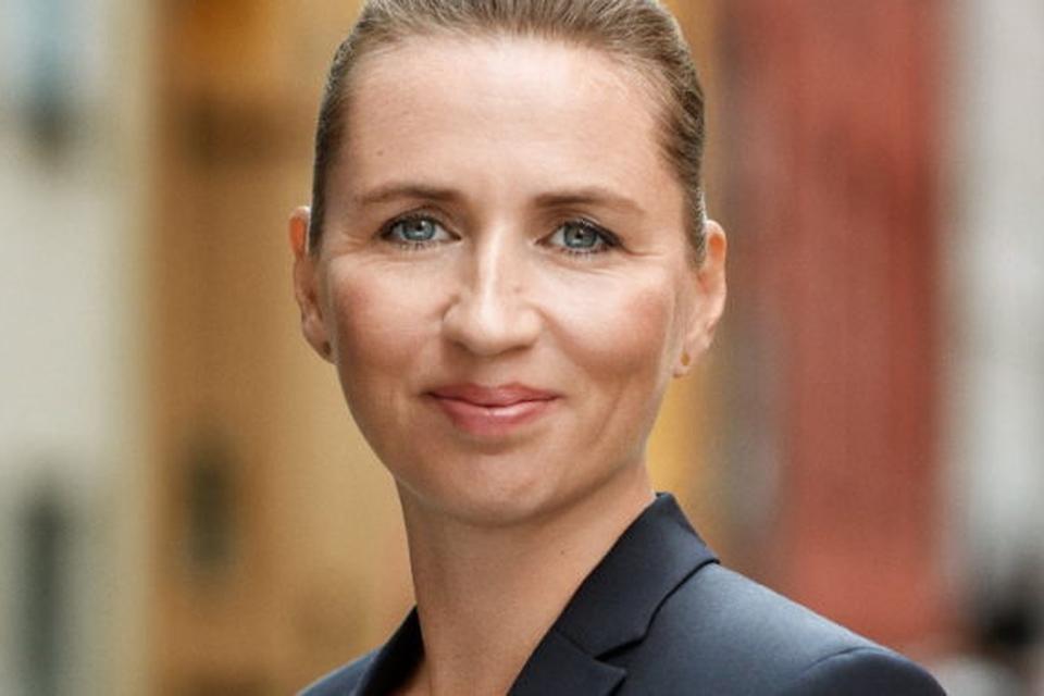 Pressefoto af Mette Frederiksen