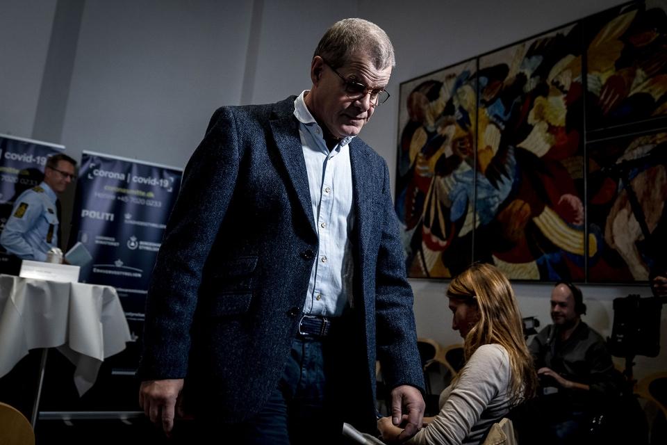Direktør i Statens Serum Institut Kåre Mølbak efter pressemøde med status på COVID-19-situationen i Danmark, i Eigtveds Pakhus i København, tirsdag den 29. september 2020.. (Foto: Mads Claus Rasmussen/Ritzau Scanpix)