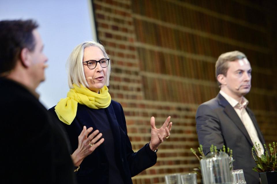 Maria Rørbye Rønn, generaldirektør i DR taler ved Radikale Venstres nytårsstævne på Hotel Nyborg Strand søndag den 5. januar 2020. (Foto: Tim K. Jensen/Ritzau Scanpix)