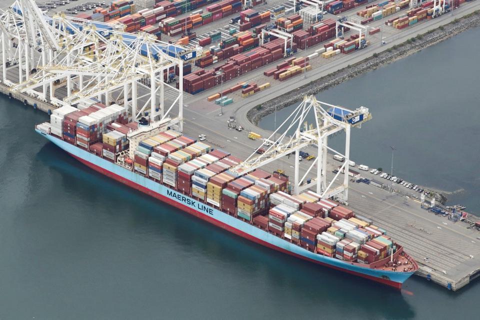 Eksporten af varer fra Danmark faldt 5,1 procent i marts. Den er især faldet til lande uden for EU - herunder Kina, USA og Storbritannien. (Arkivfoto)