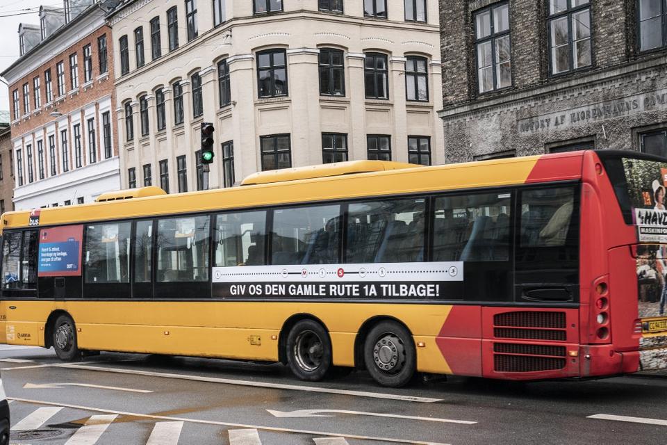Et skænderi mellem to buspassagerer i Valby sent mandag aften udviklede sig voldeligt. (Arkivfoto)
