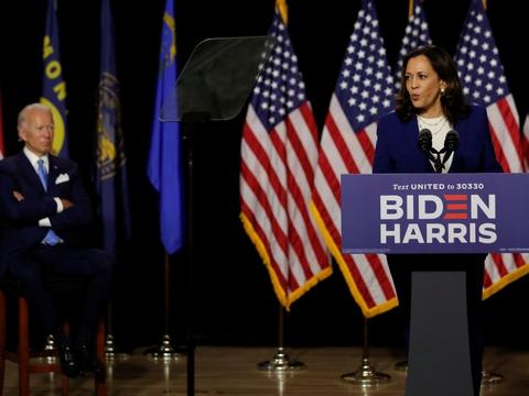 For første gang, siden Kamala Harris blev udpeget som demokratisk vicepræsidentkandidat tirsdag, optrådte hun offentligt sammen med Joe Biden i Delaware sent onsdag aften dansk tid.