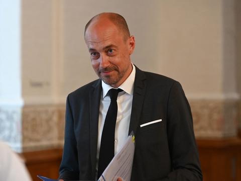 Sundheds- og ældreminister Magnus Heunicke er i åbent samråd om COVID-19 i Landstingsalen tirsdag den 2. juni 2020. (Foto: Philip Davali/Ritzau Scanpix)