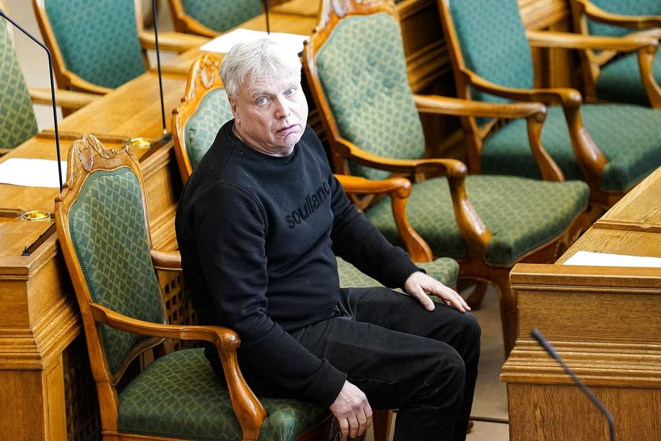 Stifter og tidligere formand for Alternativet Uffe Elbæk i Folketingssalen på Christiansborg tirsdag den 17. marts 2020. (Foto: Niels Christian Vilmann/Ritzau Scanpix)