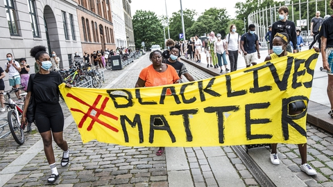 Black Lives Matter laver flashmob i København, torsdag den 18. juni 2020. (Foto: Ólafur Steinar Rye Gestsson/Ritzau Scanpix)