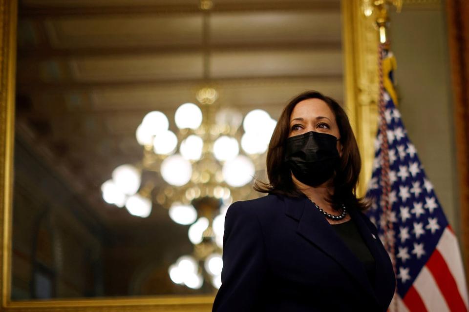 Kamala Harris er den første kvindelige amerikanske vicepræsident. (Arkivfoto)