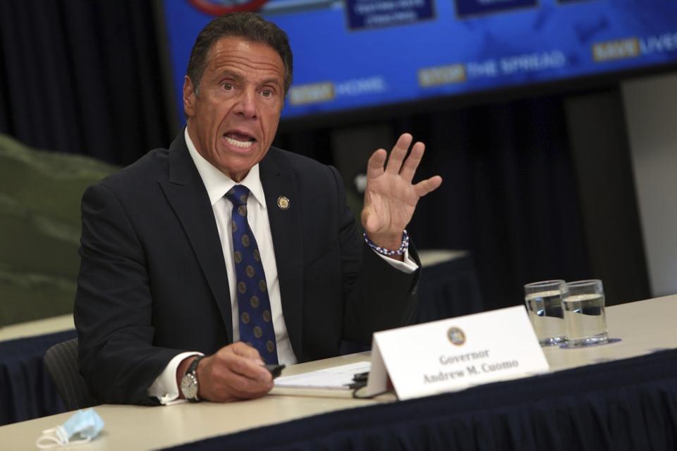 Andrew Cuomo har været guvernør for delstaten New York siden 2010. Beskyldninger fra tre kvinder om upassende opførsel har fået borgmesteren i New York til at opfordre Cuomo til at trække sig. (Arkivfoto).