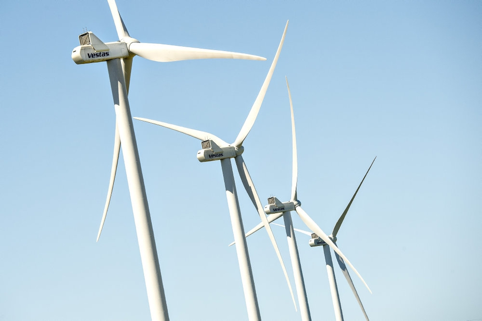 Vestas har i første kvartal blandt andet afleveret vindmøller til USA og Australien. (Arkivfoto)