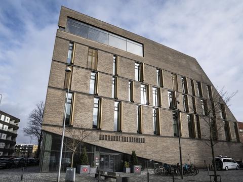 Grundlovsforhøret med ni anholdte foregår i det lokale i Retten på Frederiksberg, som Instrukskommissionen også bruger i sagen med tidligere udlændinge- og integrationsminister Inger Støjberg (V). (Arkivfoto)