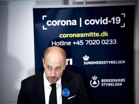 Sundheds- og Ældreminister Magnus Heunicke (S) afholder pressemøde om coronasituationen i Eigtveds Pakhus i København onsdag den 7. oktober 2020. (Foto: Ida Marie Odgaard/Ritzau Scanpix)