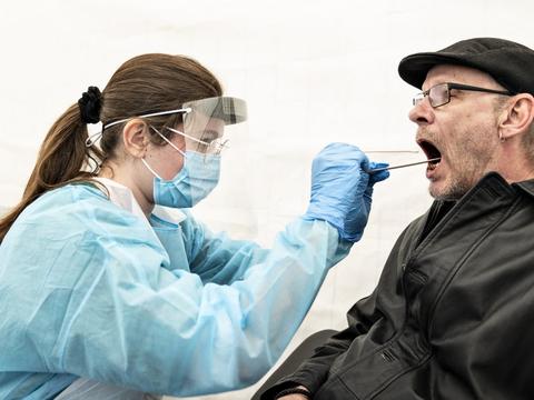 I alt er knap 3,3 millioner danskere blevet testet for covid-19 under epidemien. (Arkivfoto)