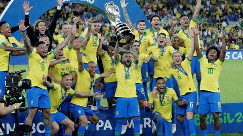 Brasilien vandt, da Copa América senest løb af stablen i 2019. (Arkivfoto)