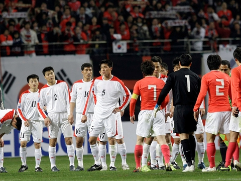 Syd- og Nordkorea har tidligere mødtes i VM-kvalifikationen. Her i 2009.