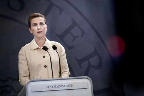 Statsminister Mette Frederiksen holder pressemøde i Statsministeriet fredag den 29. maj 2020. (Foto: Liselotte Sabroe/Ritzau Scanpix)