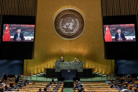 I en videotale til FN's Generalforsamling løftede Kinas præsident, Xi Jinping, tirsdag sløret for et nyt klimamål.