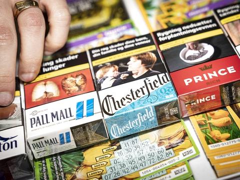 Jagtvejen Kiosken på Østerbro, onsdag den 1. april 2020. Prisen på en pakke cigaretter stiger i dag til 55 kroner. (Foto: Niels Christian Vilmann/Ritzau Scanpix)