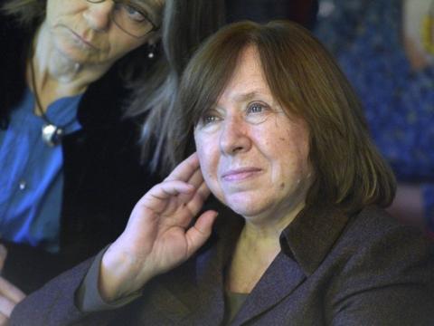 Den hviderussiske forfatter Svetlana Aleksijevitj, som i 2015 modtog Nobels litteraturpris.