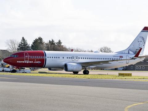 Norwegian havde 73.401 passagerer om bord på sine fly i maj. (Arkivfoto)