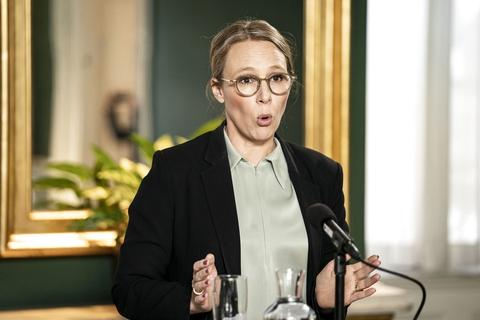Miljøminister Lea Wermelin (S) til pressemøde om første del af regeringens klimahandlingsplan i Finansministeriet, onsdag den 20. maj 2020. (Foto: Niels Christian Vilmann/Ritzau Scanpix)