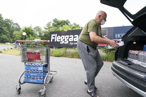 Flere danskere har været en tur over grænsen for at handle, efter at det fredag igen blev muligt.