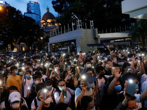 9. juni blev etåret markeret for demonstrationerne i Hongkong.