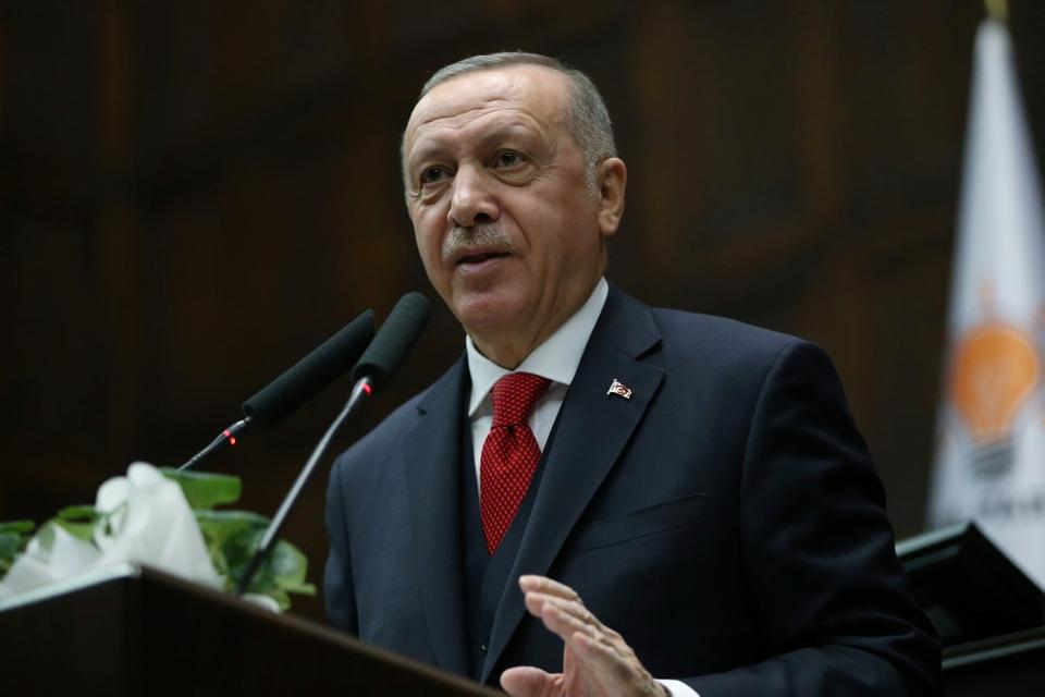 Tyrkiets præsident, Recep Tayyip Erdogan, advarer om, at Europa vil møde mange nye problemer og trusler, hvis Libyens legitime regering falder.  (Arlkivfoto)