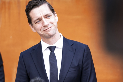 Boligminister Kaare Dybvad (S) til doorstep om ny grøn boligaftale i Transport- og Boligministeriet i København, tirsdag den 19. maj 2020. (Foto: Niels Christian Vilmann/Ritzau Scanpix)