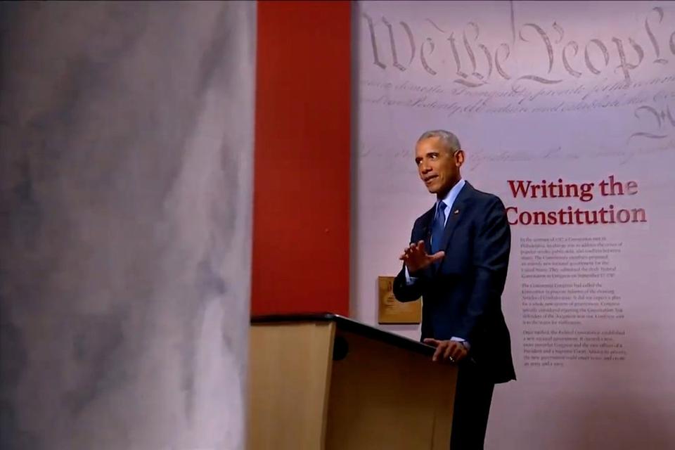 Tidligere præsident Barack Obama talte tidligt torsdag morgen dansk tid på Demokraternes partikonvent, der i år foregår online.