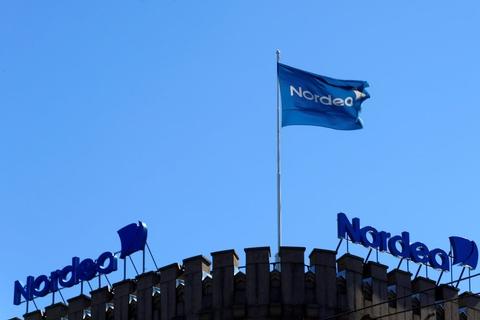 Selv om coronakrisen har ramt Nordea på pengepungen, kan banken efter årets første ni måneder mønstre et samlet overskud på 11,5 milliarder kroner. (Arkivfoto)