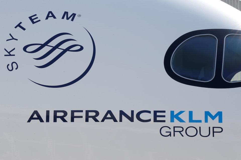 Antallet af passagerer hos Air France-KLM faldt med en femtedel til 18,1 million passagerer. (Arkivfoto)