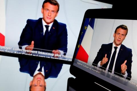 Frankrigs præsident, Emmanuel Macron, siger, at Frankrig lukker ned igen fra fredag for at bremse spredningen af coronavirus.