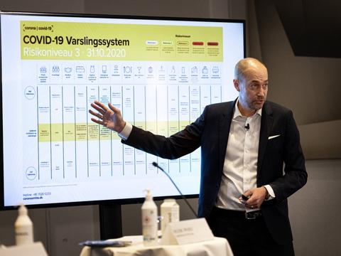 Sundhedsminister Magnus Heunicke (S) præsenterede 31. oktober et længe ventet varslingssystem.