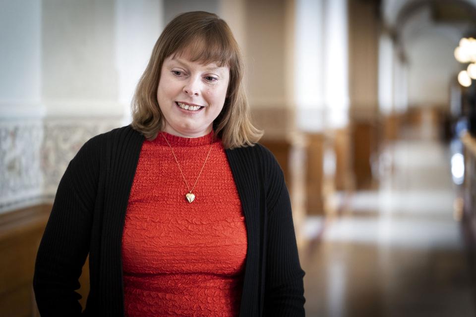 Kulturminister Joy Mogensen (S). (Foto: Liselotte Sabroe/Ritzau Scanpix)