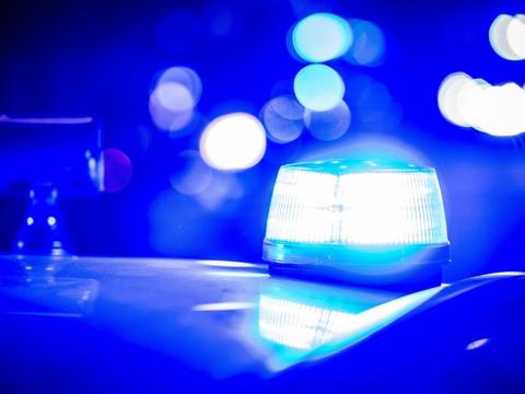 Et blinklys på en patruljevogn måtte natten til lørdag lade livet, da politiet dukkede uønsket op til en piratfest i Lyne i Vestjylland. (Arkivfoto)