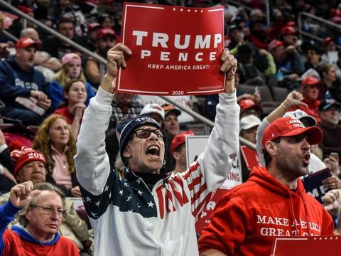 Trumps vælgermøder er blevet et varetegn for ham, og i modsætning til de fleste andre præsidenter har han holdt store forsamlinger lige fra begyndelsen af sin præsidentperiode, bortset fra under coronakrisen. (Arkivfoto).
