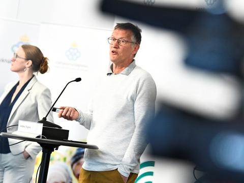 Sverige har registreret 147 døde med coronavirus det seneste døgn. På billedet her ses statsepidemiolog Anders Tegnell, der står for den svenske strategi i kampen mod coronavirus (Arkivfoto).