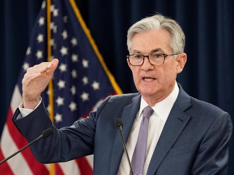 Ifølge formanden for den amerikanske centralbank, Jerome Powell, risikerer den amerikanske økonomi at skrumpe med 20-30 procent i andet kvartal. (Arkivfoto)