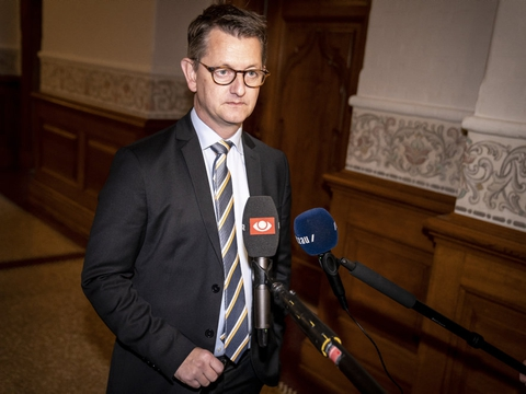 Torsten Schack Pedersen (V) siger til TV2 Nord, at en aftale for kompensation for aflivede mink kan være i hus allerede mandag. (Arkivfoto)
