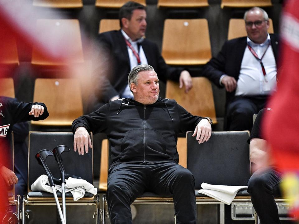 Nikolaj Jacobsen ses her under Danmarks kamp mod Finland i søndags. Danskerne vandt kampen i Aarhus overlegent.