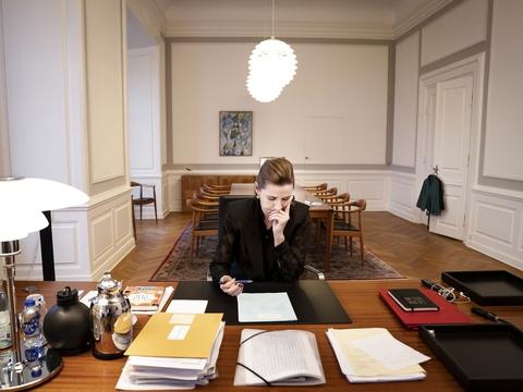 (ARKIV) Statsminister Mette Frederiksen (S), fotograferet i Statsministeriet fredag den 20. december 2019. (Foto: Liselotte Sabroe/Ritzau Scanpix)
