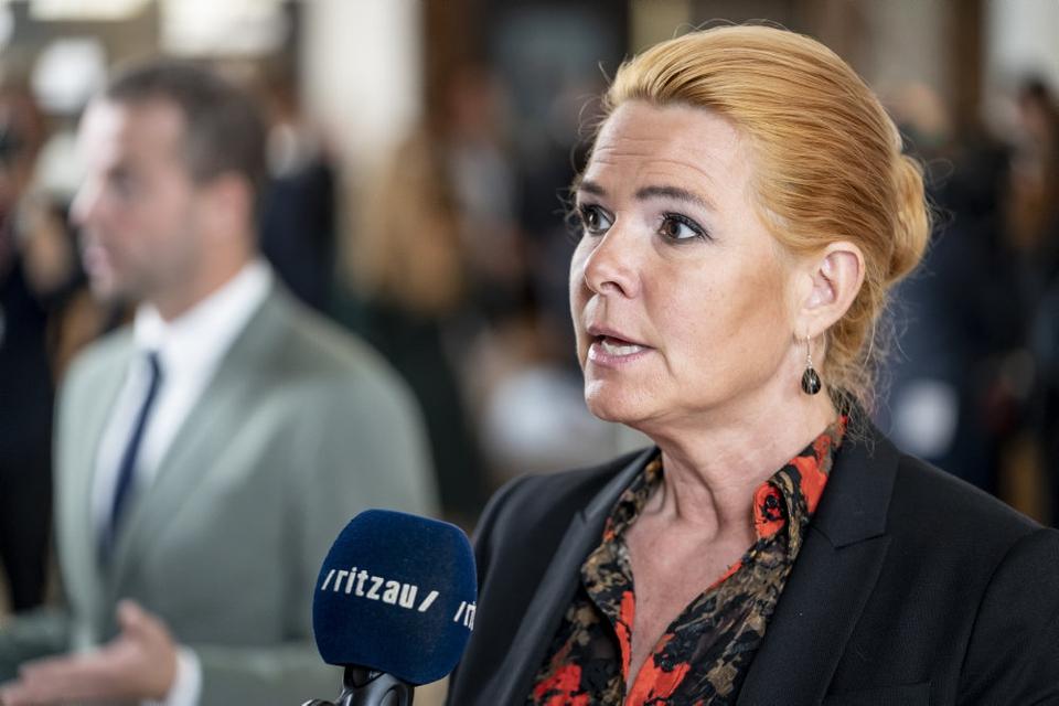 Venstres Inger Støjberg er i øjeblikket fanget i et politisk stormvejr. (Arkivfoto)