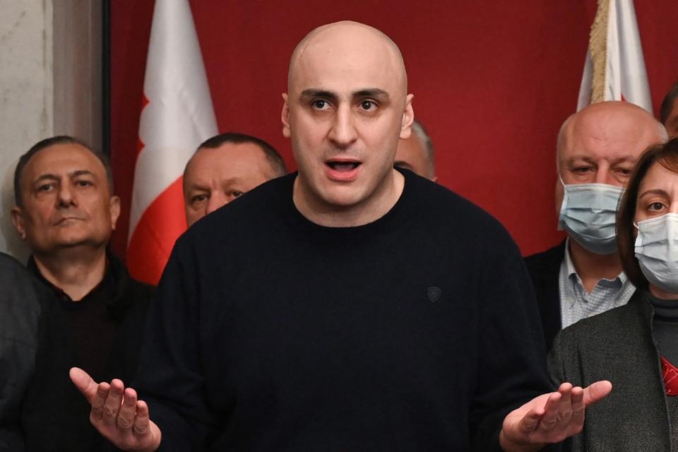 Lederen af Georgiens største oppositionsparti, Nika Melia, er tirsdag blevet anholdt af landets politi. (Arkivfoto)