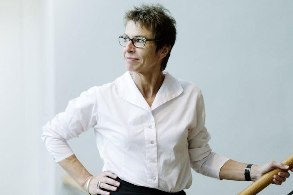 Pressefoto af Grete Christensen, formand for Dansk Sygeplejeråd
